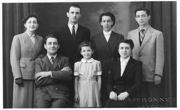 Photo de la famille en mai 1952